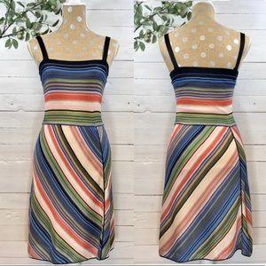 M Missoni Symmetrical Multi Stripe Knit Tank Dress